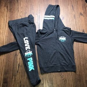 Charcoal and teal PINK set.